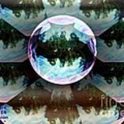 Bubble Illusion Catus 1 No 1 Poster