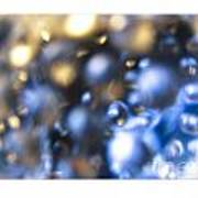 Bubble In Blue Poster