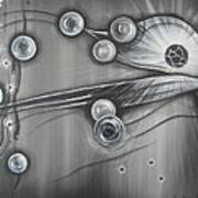 Bubbles In Grey Poster