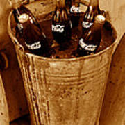 Bucket Of Iced Cold Coca Cola Poster