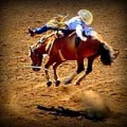 Bucking Broncos Rodeo Time Poster