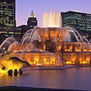 Buckingham Fountain, Chicago, Illinois Poster