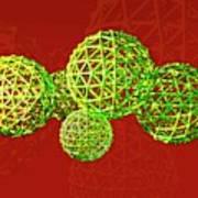 Buckyball Molecules Poster