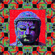 Buddha Abstract Window 20130130p55 Poster by Wingsdomain Art and Photography