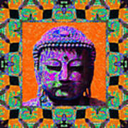 Buddha Abstract Window 20130130p85 Poster by Wingsdomain Art and Photography