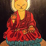 Buddha Cat Asian  Poster