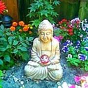 Backyard Buddha Poster