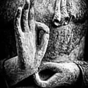 Buddha Hand Mudra Poster by Tim Gainey