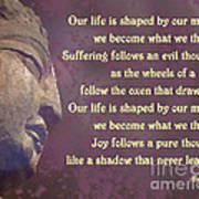 Buddha Mind Shapes Life Poster