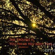 Buddha Says... Poster