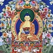 Buddha Shakyamuni And The Six Supports Poster