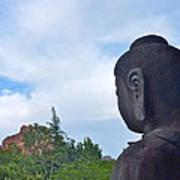 Buddha Statue In Red Rocks Az Poster