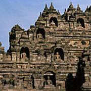 Buddhas Of Borobudur Poster