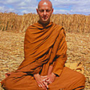 Buddhist Monk Meditating Poster by David Parker and SPL