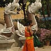 Buddhist Monk Thailand 3 Poster