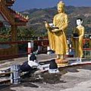 Buddhist Statues Poster