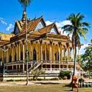 Buddhist Temple In Kratje - Cambodia Poster