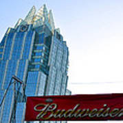 Budweiser And Building  Poster