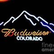 Budweiser In Colorado Poster