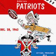 Buffalo Bills 1963 Playoff Program Poster