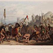 Buffalo Dance Of The Mandan Indians Poster
