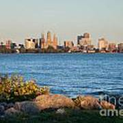 Buffalo Skyline From Fort Erie Poster
