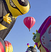 Bug Balloons Waiting To Fly Poster