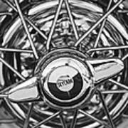 Buick Skylark Wheel Black And White Poster