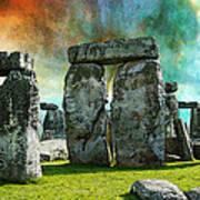 Building A Mystery - Stonehenge Art By Sharon Cummings Poster
