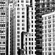 Buildings Bw Poster