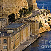 Buildings By The Mediterranean Sea Poster
