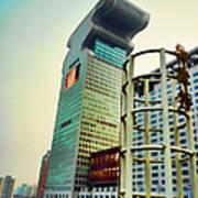 Buildings In Shanghai Poster