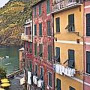 Buildings Of Vernazza Poster