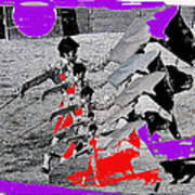 Bull Fight Matador Charging Bull Collage Us-mexico Mexico Border Town Nogales Sonora Mexico   1978-2 Poster