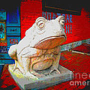 Bull Frog Painted Poster