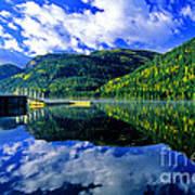Bull Lake In Fall Poster
