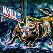Bull Market Night Poster by Teshia Art
