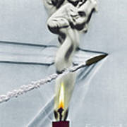 Bullet Shot Through Candle Flame Poster