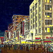 Bullock's Department Store On Broadway In Downtown Los Angeles Ca Around 1940 Poster