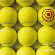 Bullseye Tennis Balls Poster