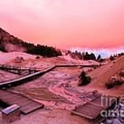 Bumpass Hell Sunset Poster
