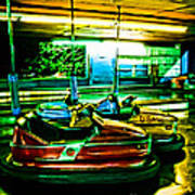 Bumper Cars Poster by Colleen Kammerer