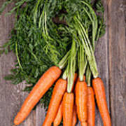 Bunched Carrots Poster