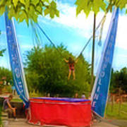 Bungee Trampoline Poster