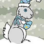 Bunny Winter Poster by Christy Beckwith