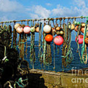 Buoys And Pots In Sennen Cove Poster