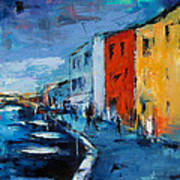 Burano Canal - Venice Poster