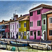 Burano Italy - Colorful Homes Poster
