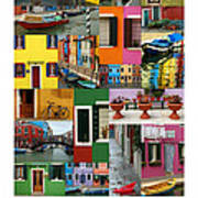 Burano Italy Poster Poster