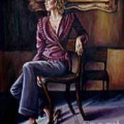 Burgundy Lady Poster